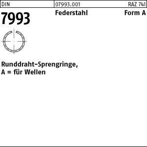 Runddraht-Sprengringe DIN 7993 FSt.-Draht A 4