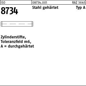 Zylinderstifte ISO 8734 Stahl 1 m6 x 4 -A