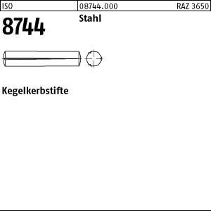Kegelkerbstifte ISO 8744 Stahl 1,5 x 6