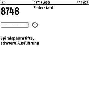 Spiralspannstifte ISO 8748 Federstahl 1,5 x 14