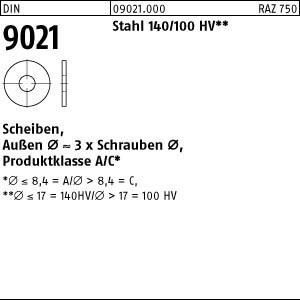 Scheiben DIN 9021 Stahl 2,7