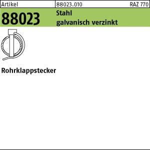 Rohrklappstecker ART 88023 Rohrklappstecker Stahl 6 x 40 x 22 galv. verzinkt gal Zn