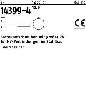 Sechskantschrauben HV EN 14399 -4 10.9 M 12 x 30 Sechskantschrauben, K1, -P-