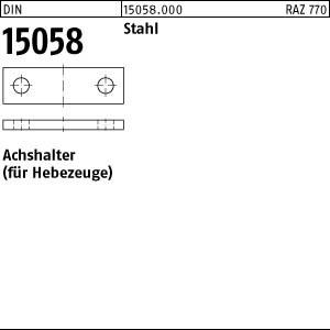 Achshalter DIN 15058 Stahl 20 x 5 Achshalter