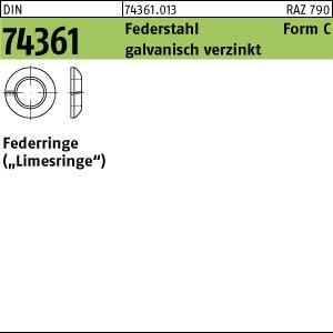 Federringe DIN 74361 Federstahl C 12,5 galv. verzinkt, Federring gal Zn