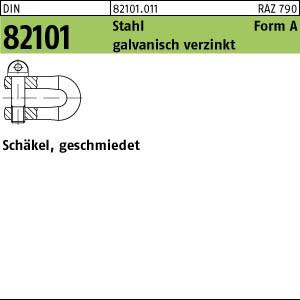 Schäkel DIN 82101 Stahl A GR. 0,16 galv. verzinkt gal Zn