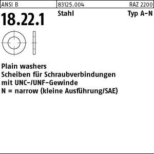 SAE Flat Washers ART 83125 SAE Flat washers Stahl 7/16 (0,469 x 0,922 x 0,065)