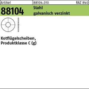 Kotflügelscheiben ART 88104 Kotfl.-Sch. St. 3,2x 20 x1,25 galv. verzinkt gal Zn