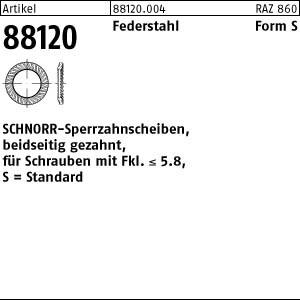 SCHNORR-Sperrzahnsch. ART 88120 SCHNORR - Scheiben Federstahl S 2