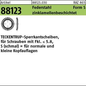 TECKENTRUP-Sperrkants. ART 88123 TECKENTRUP-Sperrkantscheiben C 60 flZnnc SKS 4 flZn