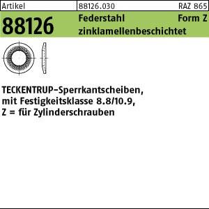 TECKENTRUP-Sperrkants. ART 88126 TECKENTRUP-Sperrkantscheiben C 60 flZnnc SKZ 6 flZn