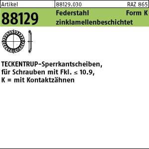 TECKENTRUP-Sperrkants. ART 88129 TECKENTRUP-Sperrkantscheiben m. Kz. C 60 flZnnc SKK 4 flZnnc