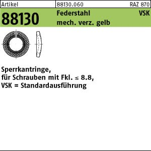 Sperrkantringe ART 88130 Sperrkantringe FSt. VSK 4 mech. verzinkt gelb chrom. mech ZnC