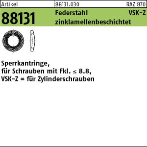 Sperrkantringe VSK-Z ART 88131 Sperrkantringe FSt. VSKZ 4 flZn flZn