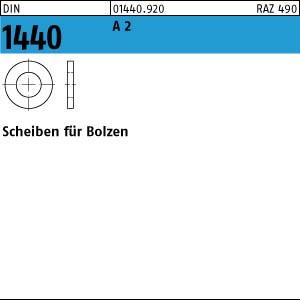 Scheiben für Bolzen DIN 1440 A 2 5 A 2