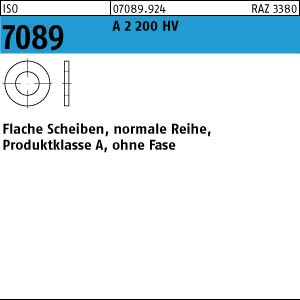 Scheiben ISO 7089 A 2 200 HV 1,6 ( 1,7 x 4 x 0,3) A 2
