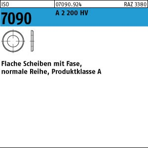 Scheiben ISO 7090 A 2 200 HV 4 ( 4,3 x 9 x 0,8) A 2
