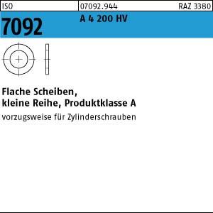 Scheiben ISO 7092 A 4 3 ( 3,2 x 6 x 0,5) 200 HV A 4