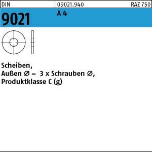 Scheiben DIN 9021 A 4 3,2 Produktklasse C A 4