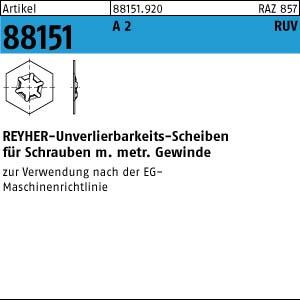 RUV-Scheiben ART 88151 RUV-Scheibe A 2 M 6 x 12 x 0,5 A 2 100 Stk.