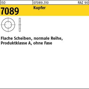Scheiben ISO 7089 Kupfer 5 ( 5,3 x 10 x 1 ) Cu