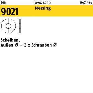 Scheiben DIN 9021 Messing 3,2 Ms