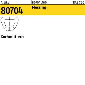 Korbmuttern DIN 80704 Messing M 6 Ms