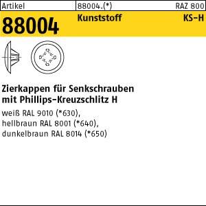 Zierkappen m.KS-Profil ART 88004 Kappen 2 x 12/3,5-5 für Kreuzschlitz H, d. braun