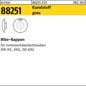 RIBE-Käppi, grau ART 88251 RIBE-Käppi 4 M 5 Kunststoff grau Kunstst
