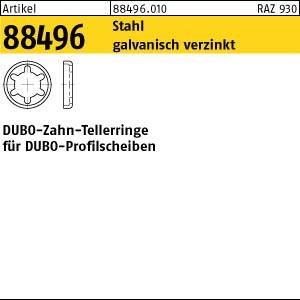 DUBO-Zahntellerringe ART 88496 DUBO-Zahntellerringe St. galv. verzinkt, Typ Nr. 404 gal Zn