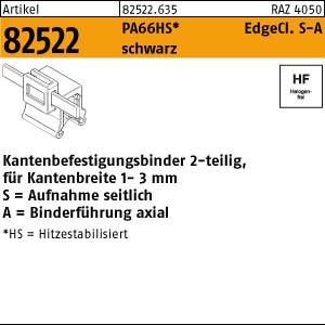 Befestigungsbinder ART 82522 Befestigungsbinder m. Edgeclip PA66HS schwarz 4,6 x 150 S-A