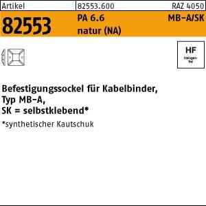 Befestigungssockel ART 82553 PA 6.6 B = max. 5,4 Befestig-Sockel, natur, SK MB4A