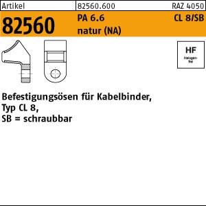 Befestigungsösen ART 82560 PA 6.6 B = max. 8 Befestigungsöse, natur, SB CL8