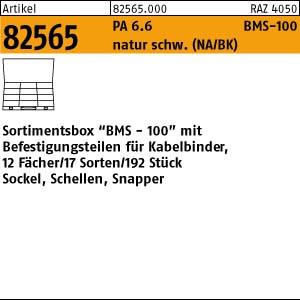 Sortimentsbox BMS-100 ART 82565 Kabel-Befestigungen Sortimentbox BMS-100