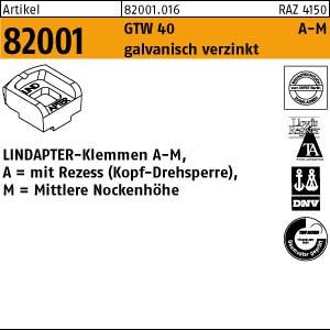 LINDAPTER-Klemmen A-M ART 82001 LINDAPTER GT A MM 8 galv. verzinkt, mittel 1 Stk.