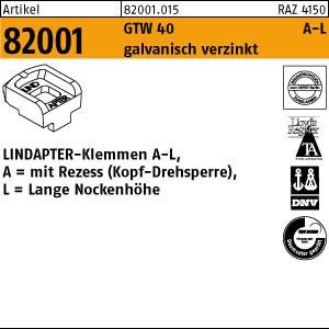 LINDAPTER-Klemmen A-L ART 82001 LINDAPTER GT A LM 10 galv. verzinkt, lang 1 Stk.
