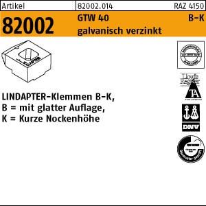 LINDAPTER-Klemmen B-K ART 82002 LINDAPTER GT B KM 10 galv. verzinkt, kurz