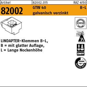 LINDAPTER-Klemmen B-L ART 82002 LINDAPTER GT B LM 10 galv. verzinkt, lang
