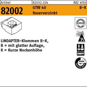 LINDAPTER-Klemmen B-K ART 82002 LINDAPTER GT B KM 10 feuerverzinkt, kurz