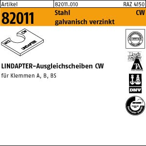Lindapter-Ausgleichs. ART 82011 LINDAPTER St. CW M 8 galv. verzinkt