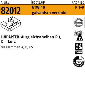 LINDAPTER-Ausgleichs. ART 82012 LINDAPTER St. P1 M 8 galv. verzinkt, kurz
