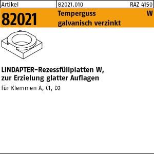 LINDAPTER-Rezessfüllp. ART 82021 LINDAPTER Stahl W M 10 galv. verzinkt