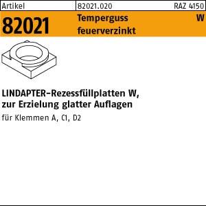 LINDAPTER-Rezessfüllp. ART 82021 LINDAPTER Stahl W M 10 feuerverzinkt