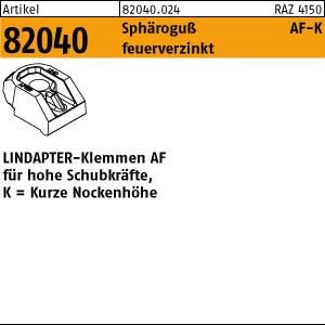 LINDAPTER-Klemmen ART 82040 LINDAPTER Sphäro-Guß AF KM 12 feuerverzinkt, kurz