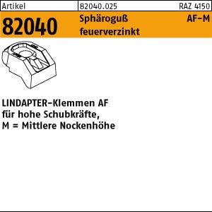 LINDAPTER-Klemmen AF-M ART 82040 LINDAPTER Sphäro-Guß AF MM 12 feuerverzinkt, mittel