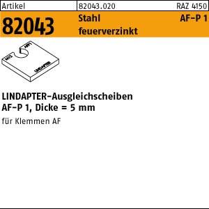 LINDAPTER-Ausgleichs. ART 82043 LINDAPTER St. AF M 12 P1 Scheiben, feuerverzinkt