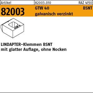 LINDAPTER-Klemmen BSNT ART 82003 LINDAPTER GT BSNT M 12 galv. verzinkt