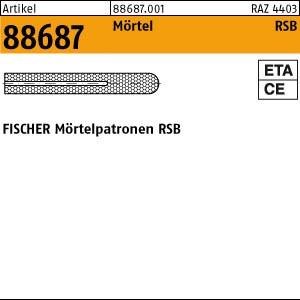 FISCHER-Reaktionspatr. ART 88687 FISCHER-Reaktionspatrone RSB 8 10 Stk.
