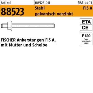 FISCHER-Gewindestangen ART 88523 FISCHER-Gewindestangen Stahl gal Zn FIS A M 6 x 75 20 Stk.