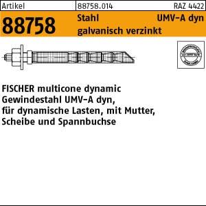 UPAT-Multicone Gew.st. ART 88758 UPAT Multicone Ankerstangen St. gal Zn UMV-dyn 100 M 12/ 10